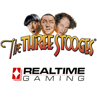 The Three Stooges tilbys av Realtime Gaming