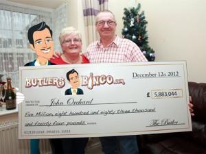 Lucky Player won 5.88million GBP