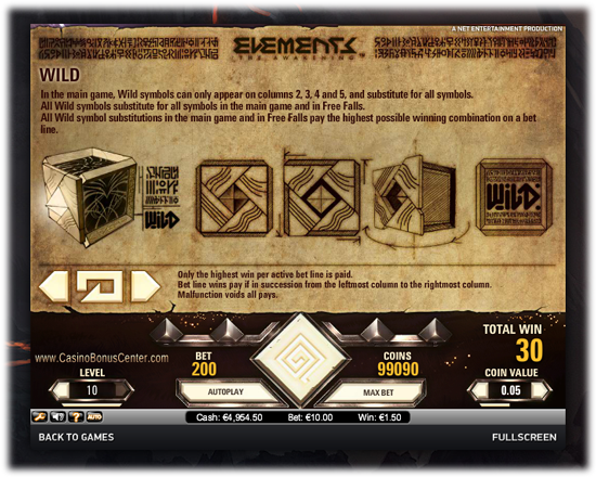 Elements Screen 3