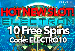 "A cyber journey of sizzling circuits with Free Spins on ""Electron"""