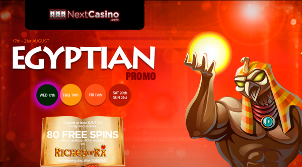 NextCasino launches Egyptian Promo (17th August – 21st August)