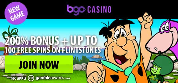 The Flintstones now live at bgo – 100 Free Spins!