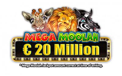 Mega jackpot varsel: Megamoolah jackpotten er nå på over € 20 Million og teller!