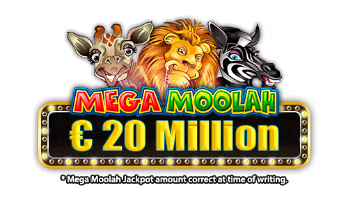 Mega jackpot alert: The Megamoolah jackpot is now at over €20 Million and counting!